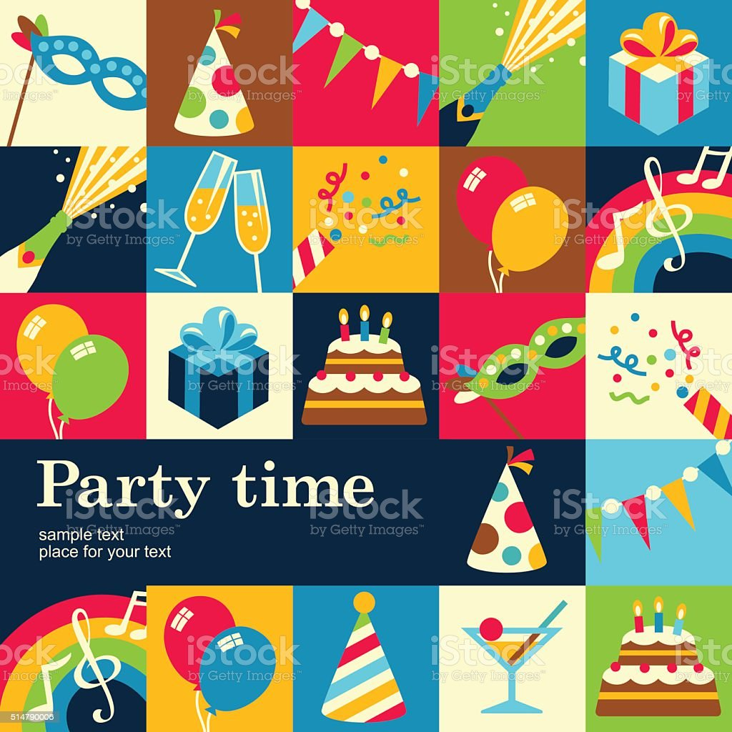 party background vector art illustration