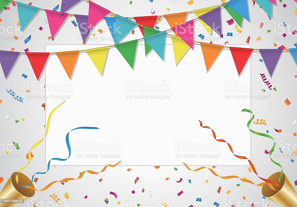 party background with white board stock vector art more images of