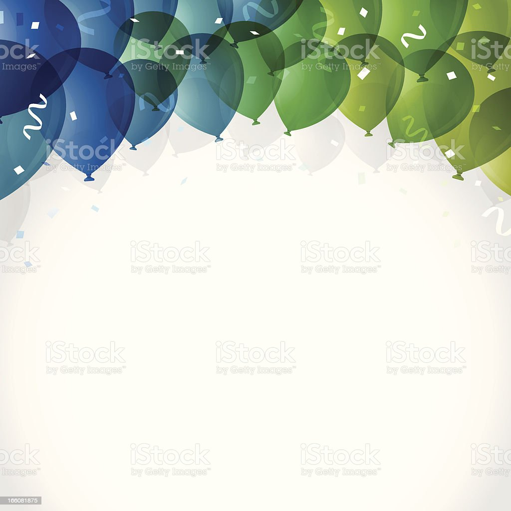 Fondo de Fiesta de globos aerostáticos - ilustración de arte vectorial
