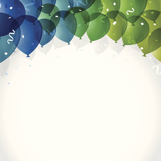 party balloon background - office party stock illustrations, clip art, cartoons, & icons