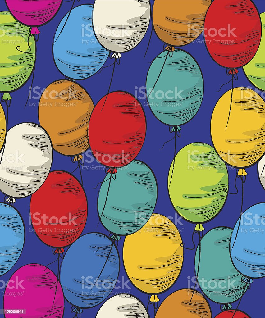 Party balloon seamless royalty-free party balloon seamless stock vector art & more images of backgrounds