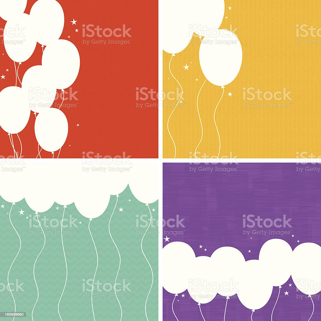 Party Balloons Background Set. EPS8 royalty-free party balloons background set eps8 stock vector art & more images of backgrounds