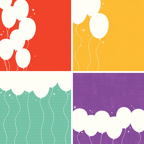 Party Balloons Background Set. EPS8 vector art illustration