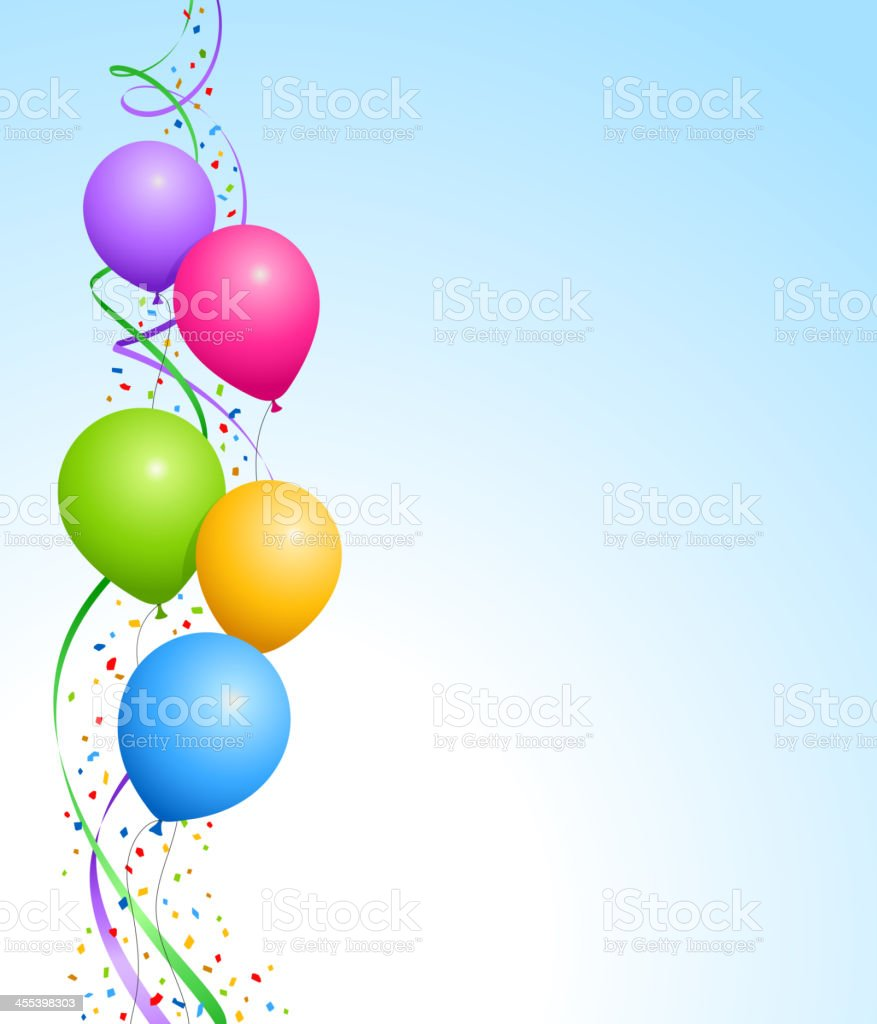 Party Balloons Background royalty-free stock vector art