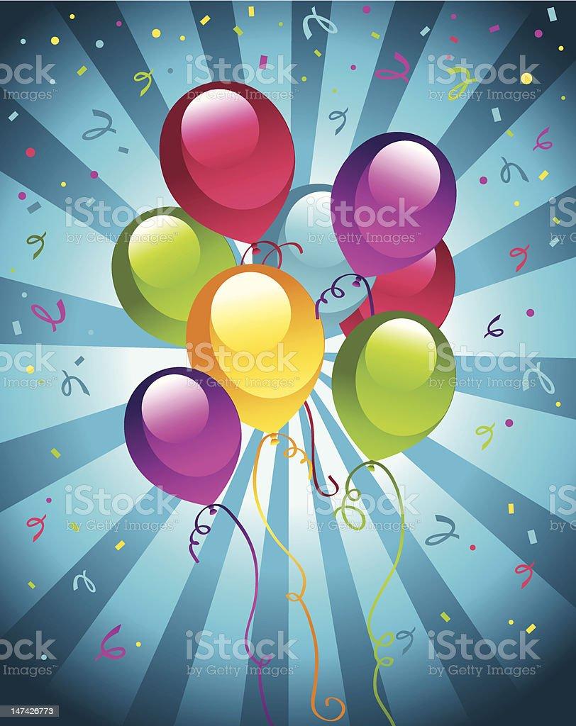 Party Balloons royalty-free stock vector art