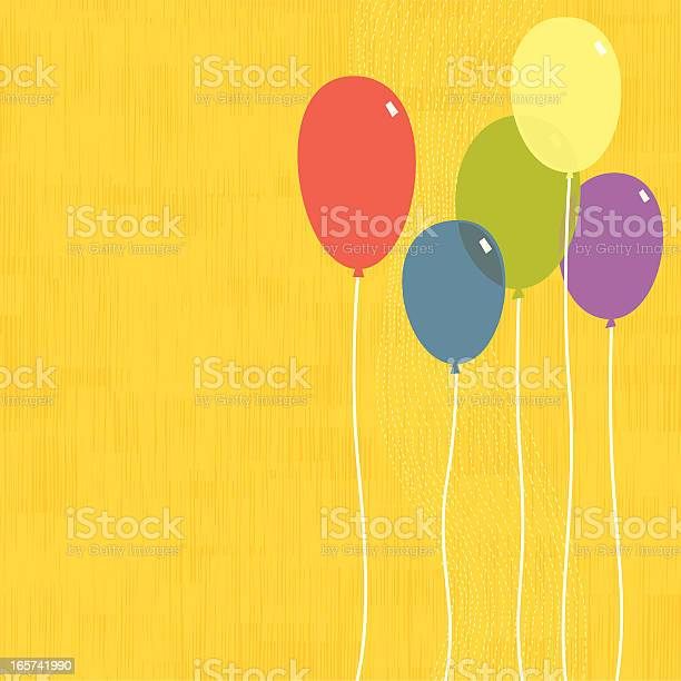 Party Balloons Stock Illustration - Download Image Now