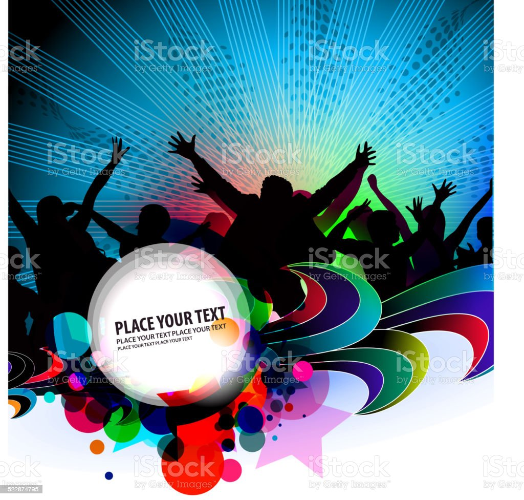 party banner background vector art illustration