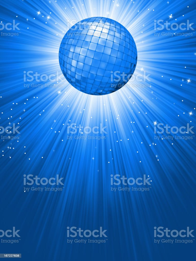 Party Banner with Disco Ball. EPS 8 vector art illustration