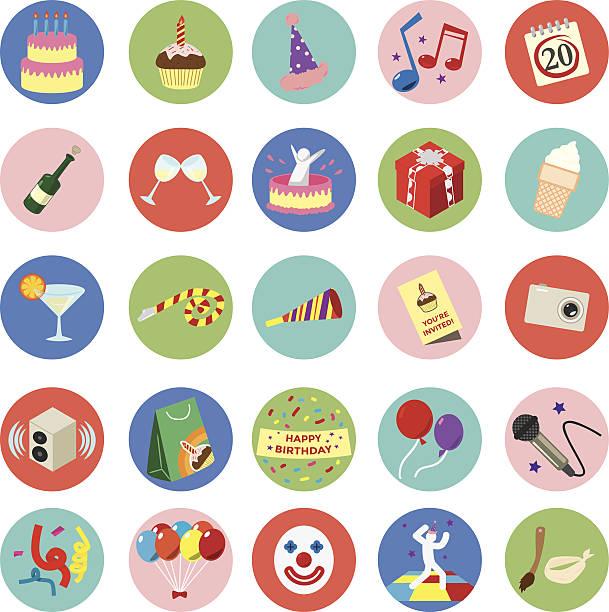 Feier Geburtstag Symbol set.  Vektor-Illustration eps10 – Vektorgrafik