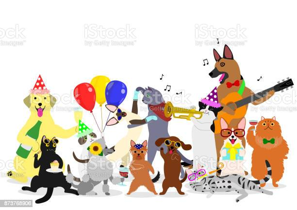 Party cats and dogs group vector id873768906?b=1&k=6&m=873768906&s=612x612&h=77wtje h xjlbw132g fkkfutro1a3m65u7uwc4nmbm=