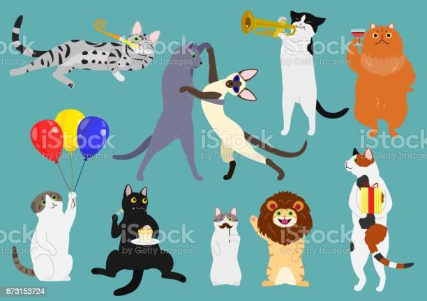 Party cats set vector id873153724?b=1&k=6&m=873153724&s=612x612&h=6y9u 8wjdohlgunzknrdzluiots6plbpymyack7qj9q=