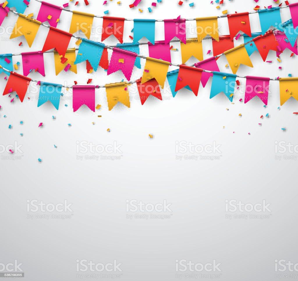 Party celebration background. vector art illustration
