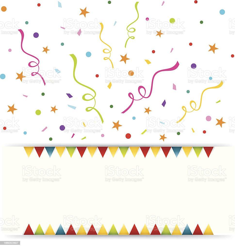 Party Celebration Banner vector art illustration