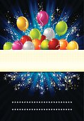 A vector illustration to show party celebration background
