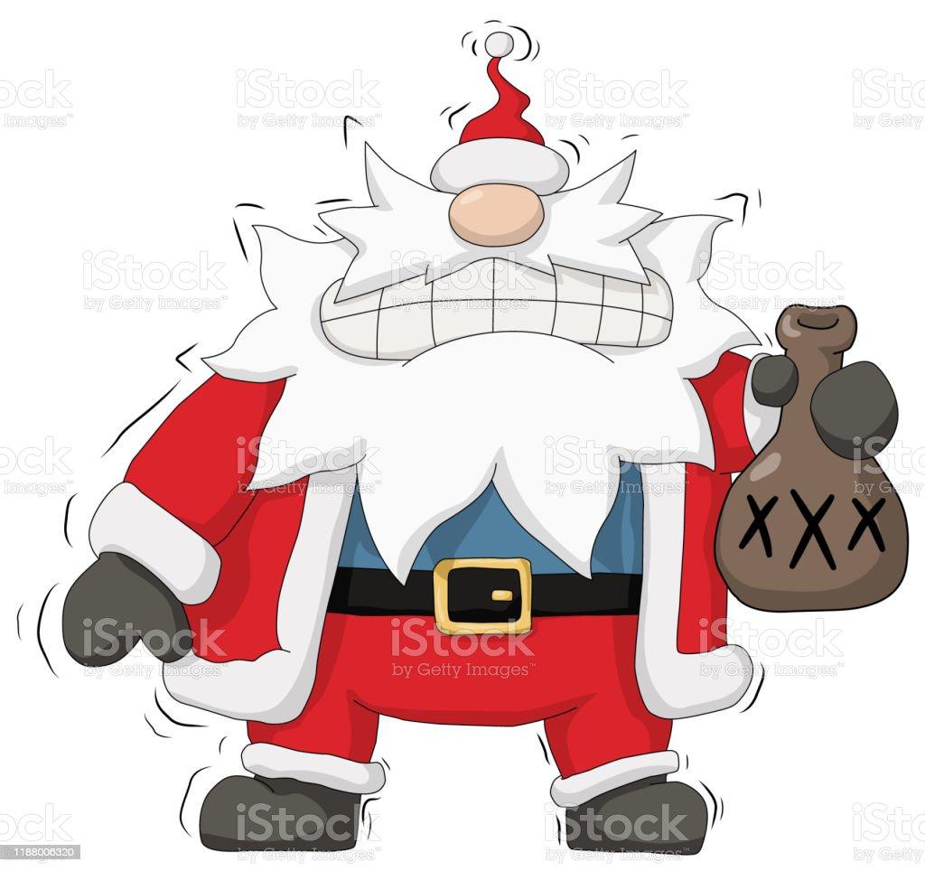 Party Christmas Cartoon Moonshine Santa Stock Illustration Download Image Now Istock