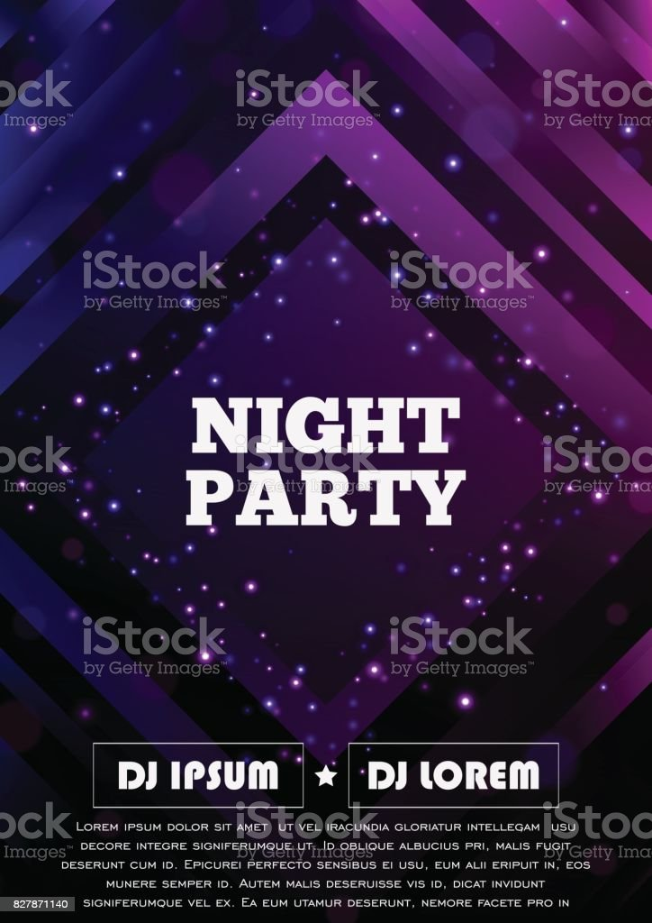 Party club flyer. Vector poster template royalty-free party club flyer vector poster template stock illustration - download image now