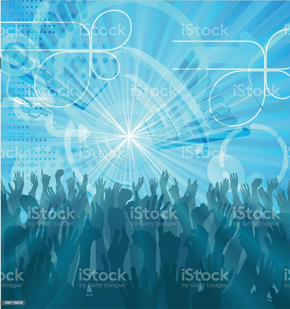 Party Crowd Abstract Party Background vector art illustration