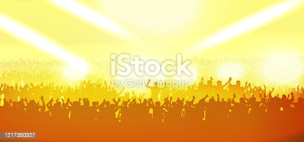 istock Party crowd background 1217350327