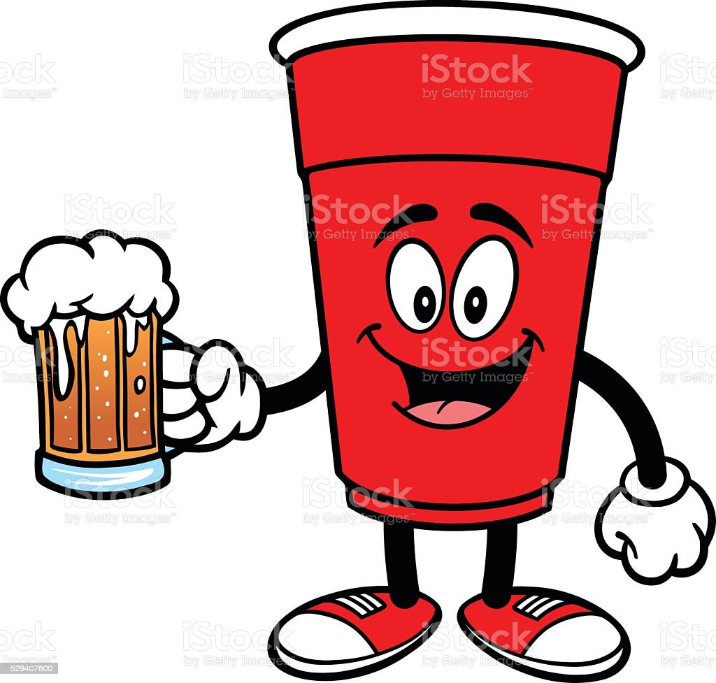Party Cup with a Beer vector art illustration