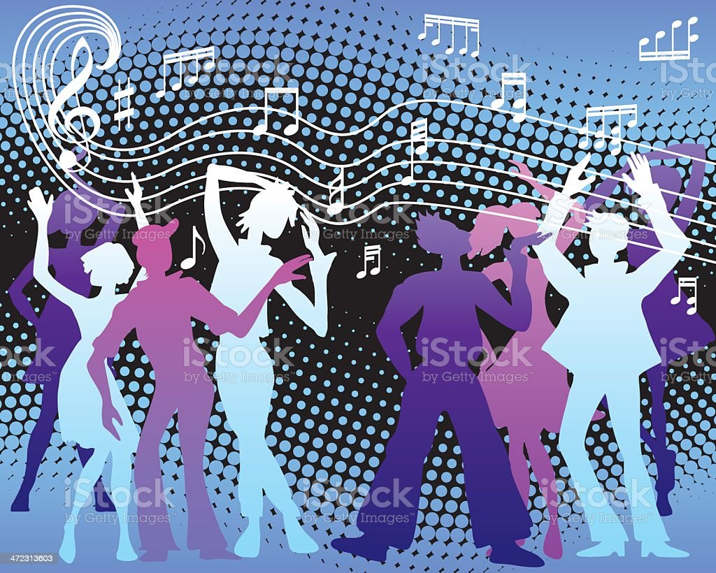 Party dancers royalty-free stock vector art