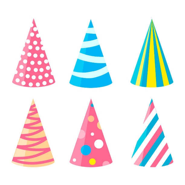 Party Different Hats Collection For A Birthday Celebration New Year And Other Holidays Vector