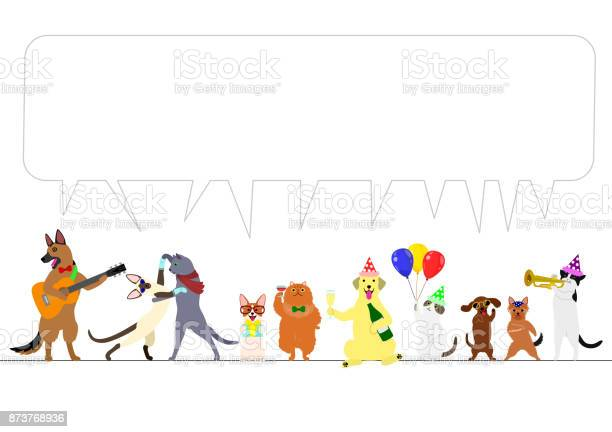 Party dogs and cats border with speech bubble vector id873768936?b=1&k=6&m=873768936&s=612x612&h= oy1cnlkibgyb tdxwuuq0dumbevqelq tqjnlvbw 8=