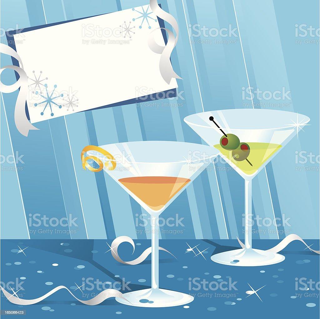 Party Drinks vector art illustration