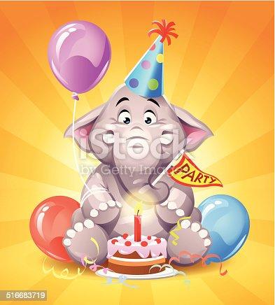 istock Party Elephant 516683719
