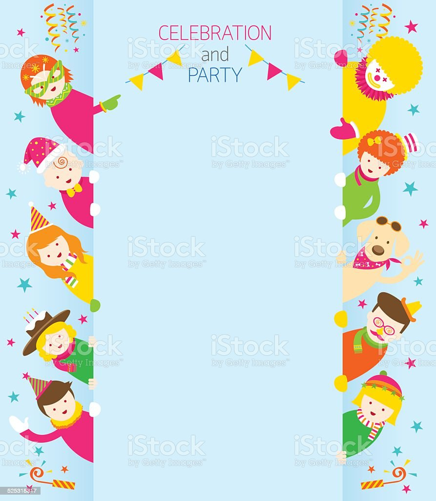 Party, Family, People with Copy Space vector art illustration