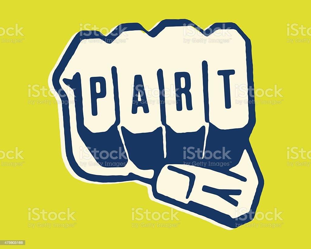 Party Fist vector art illustration