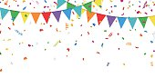 Party Flags and Confetti