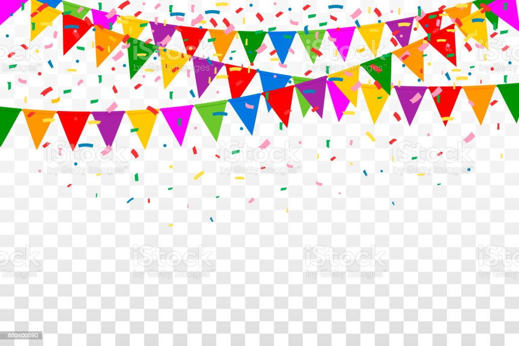 celebration background image party flags with confetti celebration background stock 9650