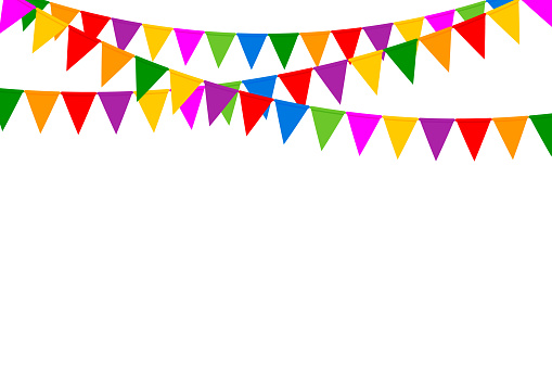 Party Flags With Confetti Celebration Background Stock ... (509 x 339 Pixel)