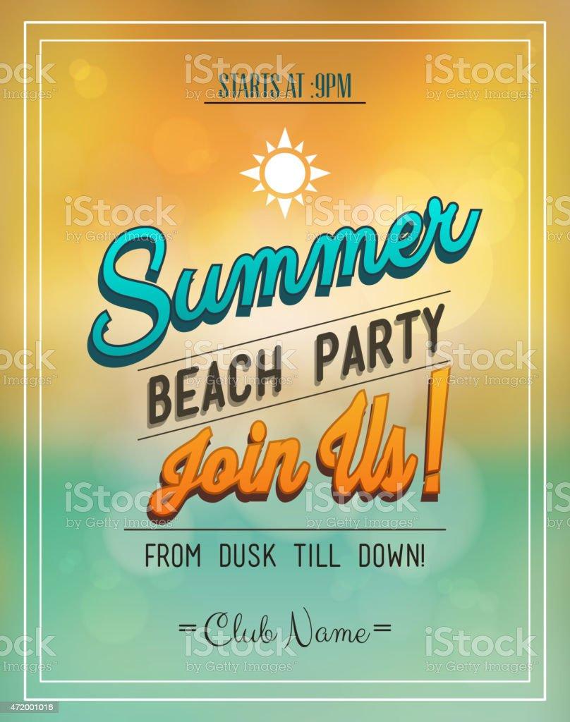 Sommer Strand Party Flyer Stock Vektor Art und mehr Bilder von 2015 ...