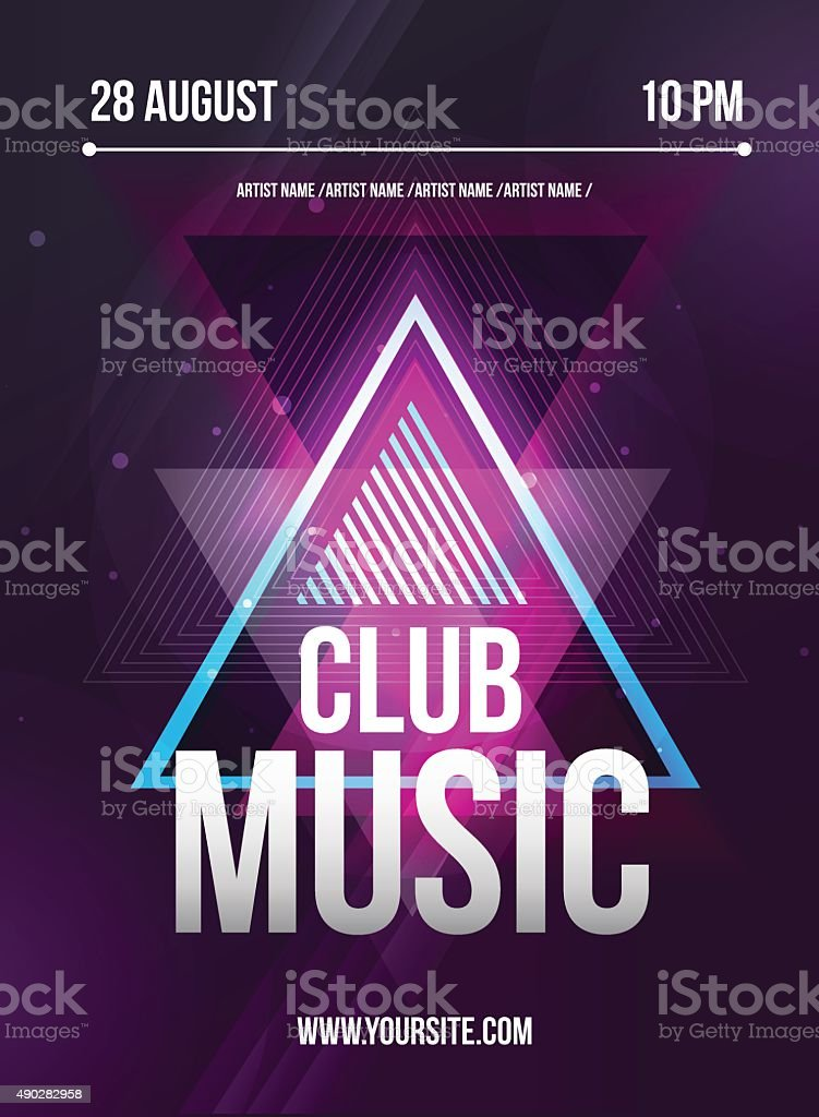 Party Flyer. Club music flyer. Dj lineup design. Vector template royalty-free party flyer club music flyer dj lineup design vector template stock illustration - download image now