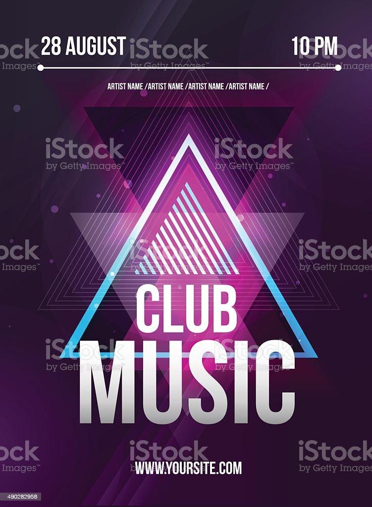 Muito Festa Flyer Flyer De Música De Discoteca Dj Linha De Design Vector  AD46