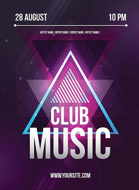 Party Flyer. Club music flyer. Dj lineup design. Vector template vector art illustration