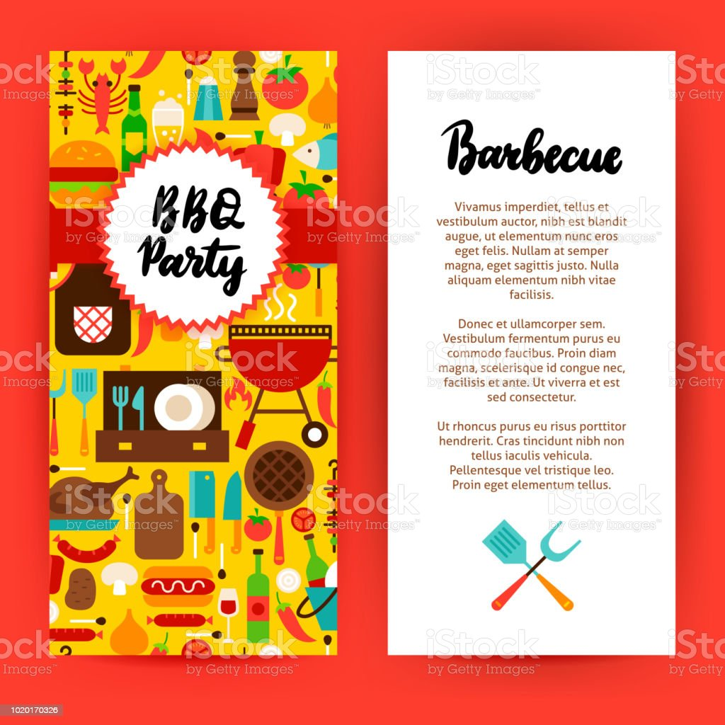 bbq party flyer stock vector art more images of banner sign