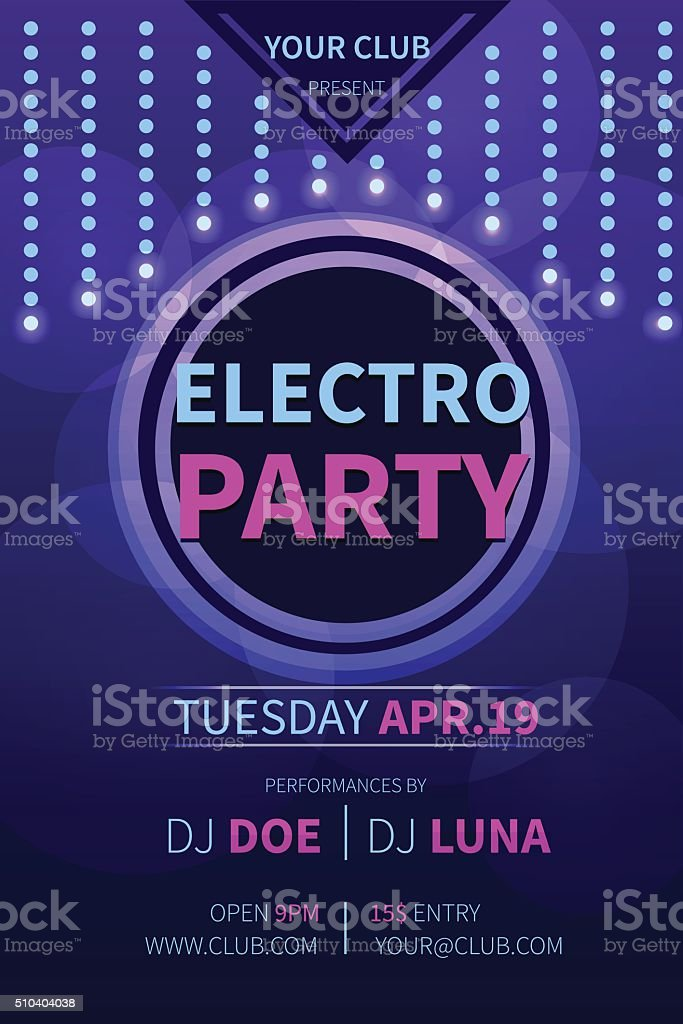 Party flyer vector art illustration