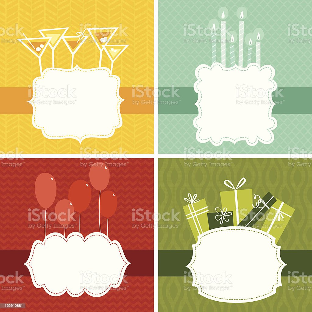 Party frame set vector art illustration