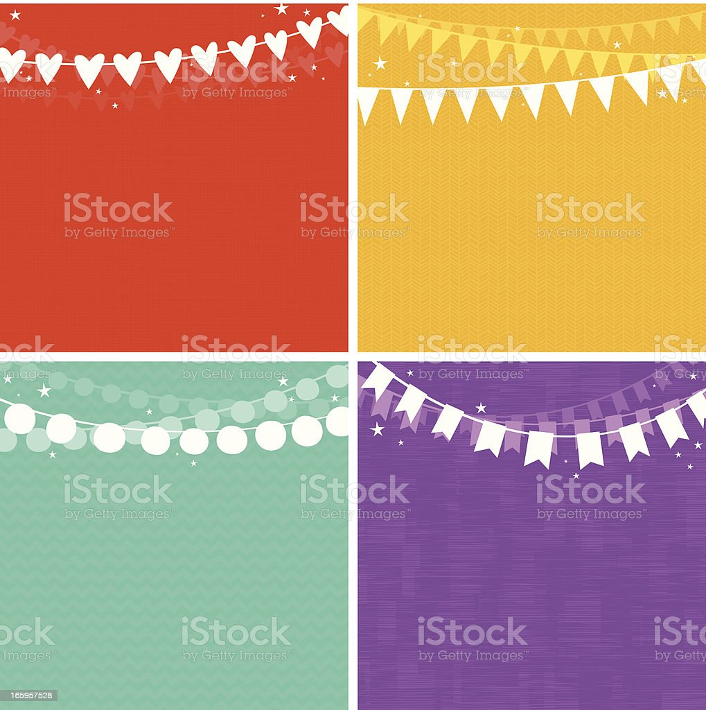 Party Garlands Background Set. EPS8 royalty-free party garlands background set eps8 stock vector art & more images of backgrounds
