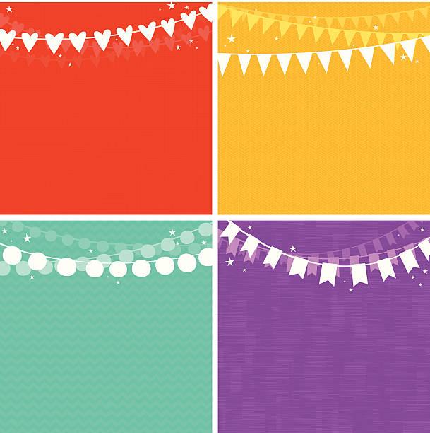 Party Garlands Background Set. EPS8 vector art illustration