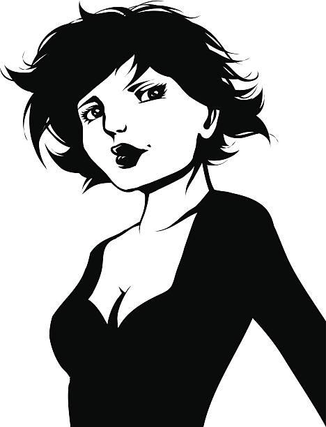 Party girl vector art illustration