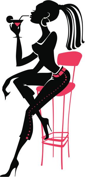 Party Girl Stock Vektor Art und mehr Bilder von ClipArt