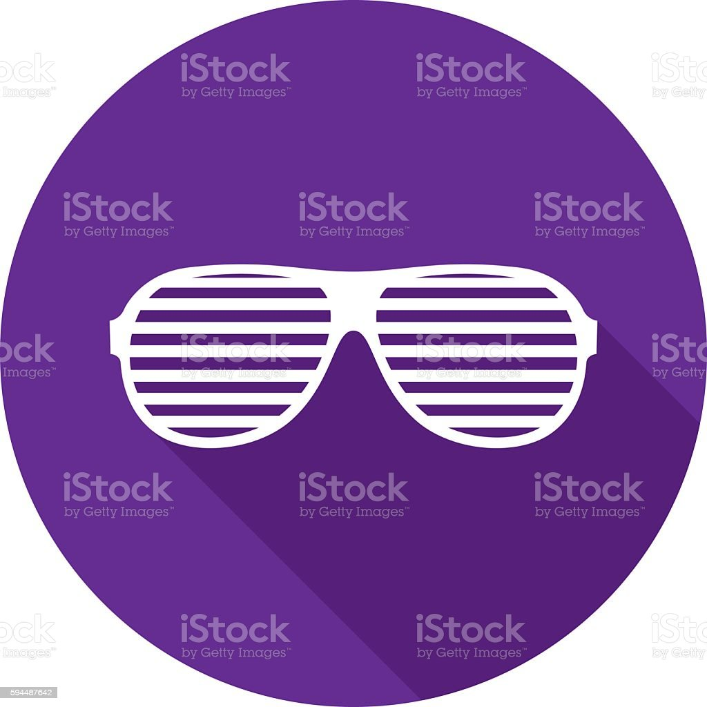 Party Glasses Icon Silhouette vector art illustration