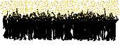 Party Golden Confetti Shower