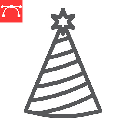 Party hat line icon