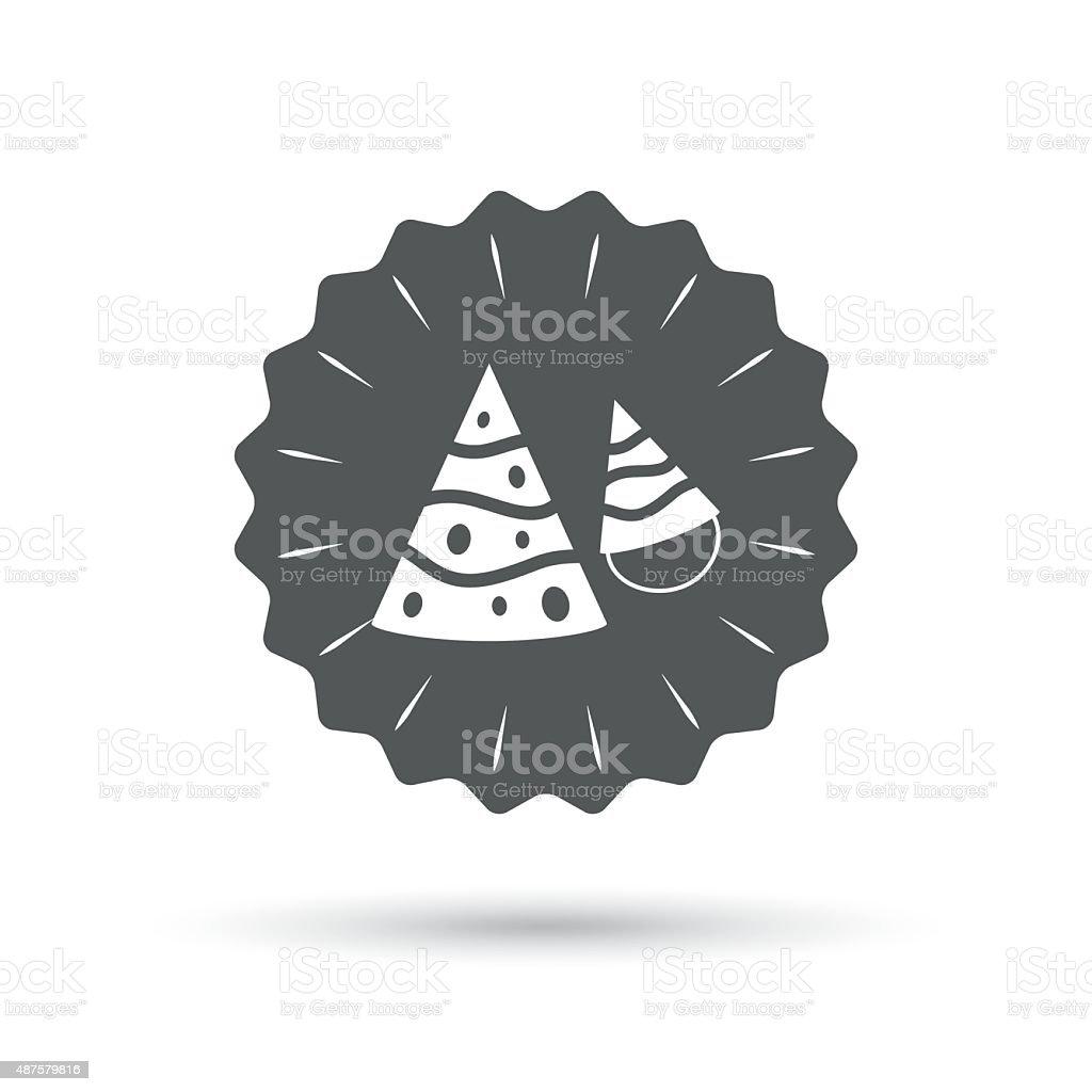 Party Hat Sign Icon Birthday Celebration Symbol Stock Vector Art