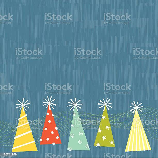 Party Hats Stock Illustration - Download Image Now