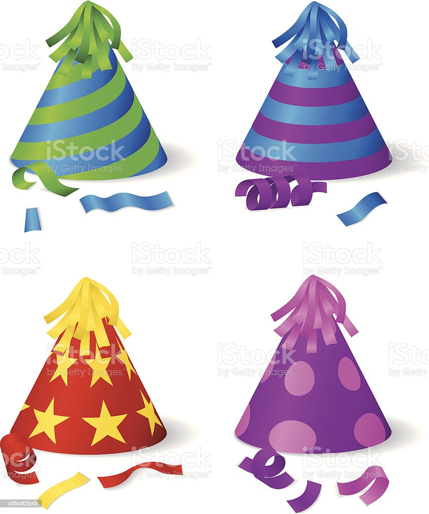 Party hats royalty-free party hats stock vector art & more images of backgrounds